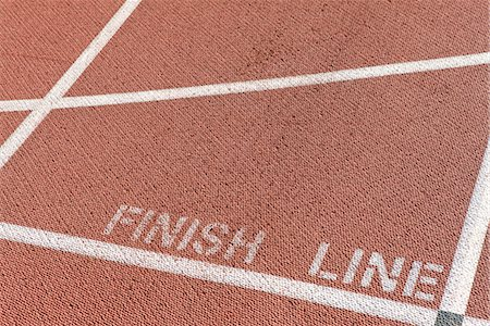finish line - Finishing line of running track Stock Photo - Premium Royalty-Free, Code: 632-05816540