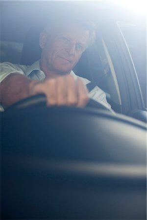 remote car - Man driving car, portrait Stock Photo - Premium Royalty-Free, Code: 632-05816718
