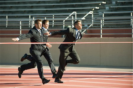 finish line - Businessmen approaching finish line in race Stock Photo - Premium Royalty-Free, Code: 632-05816782