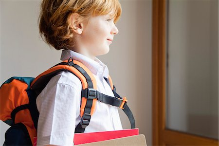 Boy prepared for school Stock Photo - Premium Royalty-Free, Code: 632-05816915