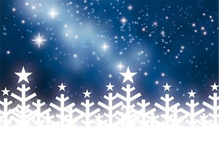 snowflakes  holiday - Winter night Stock Photo - Premium Royalty-Free, Code: 632-05817189