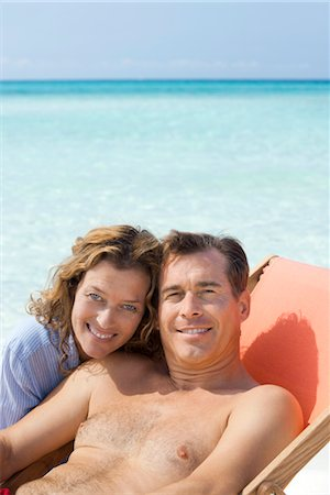 Couple spending time at beach, portrait Stock Photo - Premium Royalty-Free, Code: 632-05845328