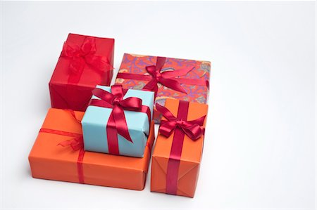 Festively wrapped gifts Stock Photo - Premium Royalty-Free, Code: 632-05991289