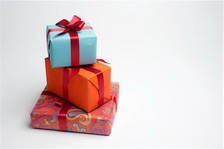 Festively wrapped gifts Stock Photo - Premium Royalty-Free, Code: 632-05992069