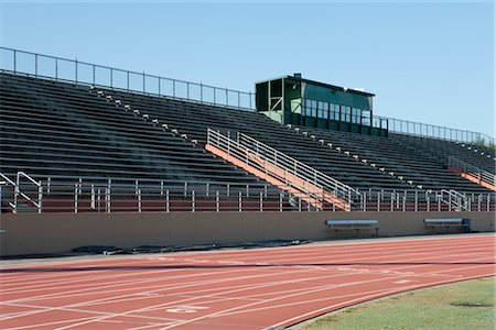 race track (people) - Empty stadium and running track Stock Photo - Premium Royalty-Free, Code: 632-05992222