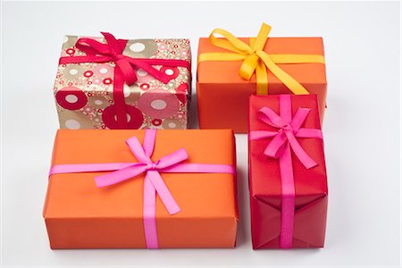 Festively wrapped gifts Stock Photo - Premium Royalty-Free, Code: 632-05992242