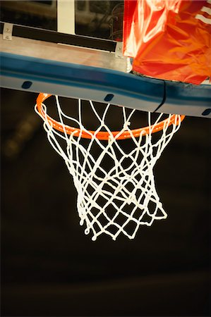 Basketball hoop, low angle view Stock Photo - Premium Royalty-Free, Code: 632-05992270