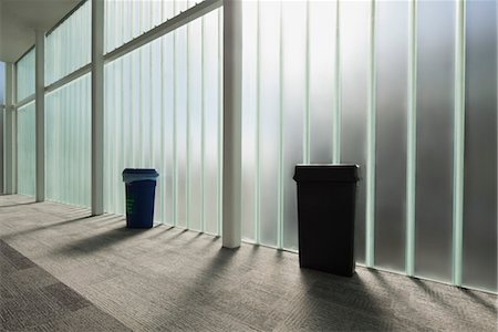 Modern lobby with glass wall Stock Photo - Premium Royalty-Free, Code: 632-06029800