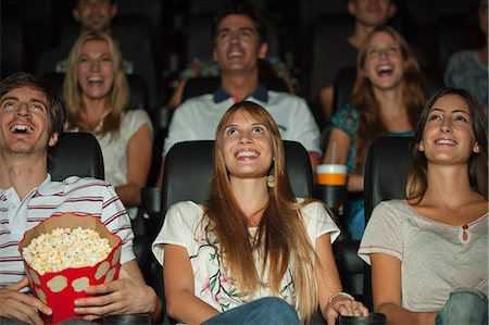 front row seat - Audience watching movie in theater Stock Photo - Premium Royalty-Free, Code: 632-06118145