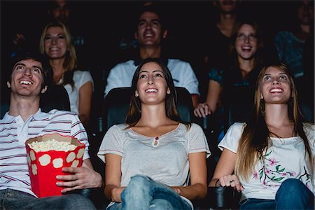 front row seat - Audience watching movie in theater Stock Photo - Premium Royalty-Free, Code: 632-06118628
