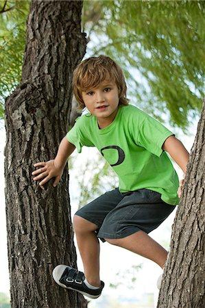 Boy climbing tree Stock Photo - Premium Royalty-Free, Code: 632-06118888