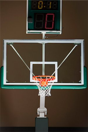 Basketball hoop with backboard and scoreboard Stock Photo - Premium Royalty-Free, Code: 632-06317193