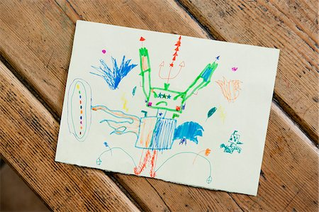 drawing (artwork) - Child's drawing Stock Photo - Premium Royalty-Free, Code: 632-06317290