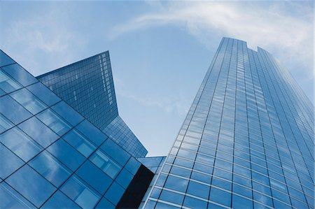 Facade of skyscrapers, low angle view Stock Photo - Premium Royalty-Free, Code: 632-06317393