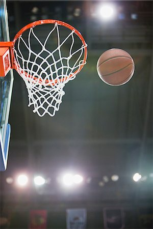 Basketball and hoop Stock Photo - Premium Royalty-Free, Code: 632-06317721