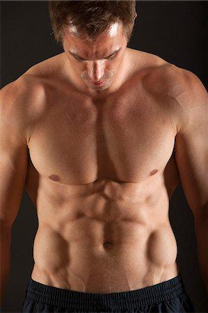 Barechested muscular man Stock Photo - Premium Royalty-Free, Code: 632-06317869