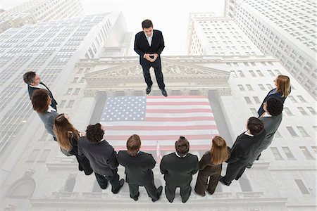 stock exchange building - CEO meets with group of investors Stock Photo - Premium Royalty-Free, Code: 632-06404666