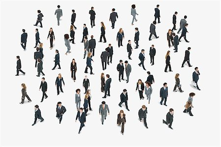 Large group of business people, high angle view Stock Photo - Premium Royalty-Free, Code: 632-06404701