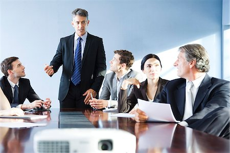 Corporate trainer leading training session Stock Photo - Premium Royalty-Free, Code: 632-07674550