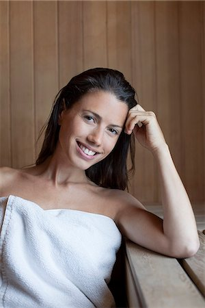 Woman in sauna Stock Photo - Premium Royalty-Free, Code: 632-07809455