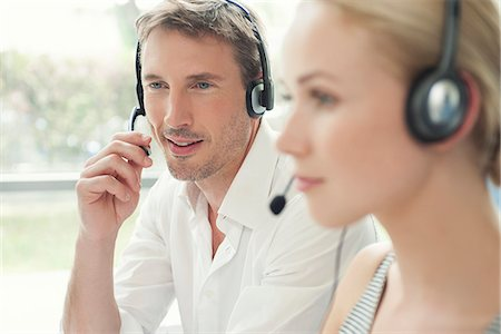 switchboard operator - Workers in call center Stock Photo - Premium Royalty-Free, Code: 632-08001688