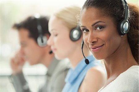 switchboard operator - Telemarketer working in call center Stock Photo - Premium Royalty-Free, Code: 632-08001865