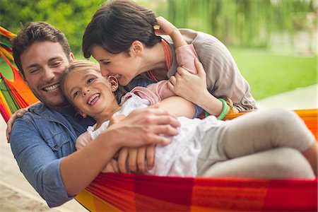 Family having fun together at home on the weekend Stock Photo - Premium Royalty-Free, Code: 632-08129876