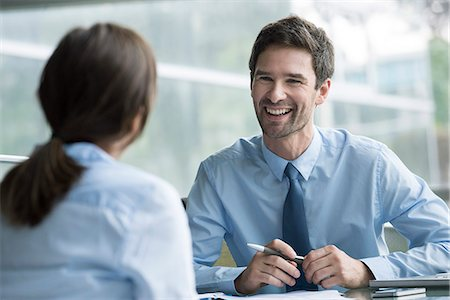Manager interviewing job candidate Stock Photo - Premium Royalty-Free, Code: 632-08227395