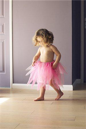 dress up girl - Little girl wearing pink tutu Stock Photo - Premium Royalty-Free, Code: 632-08227424