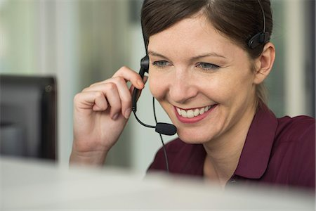Receptionist at work, portrait Stock Photo - Premium Royalty-Free, Code: 632-08227486
