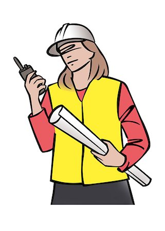 designs - Illustration of female construction supervisor Stock Photo - Premium Royalty-Free, Code: 632-08227893