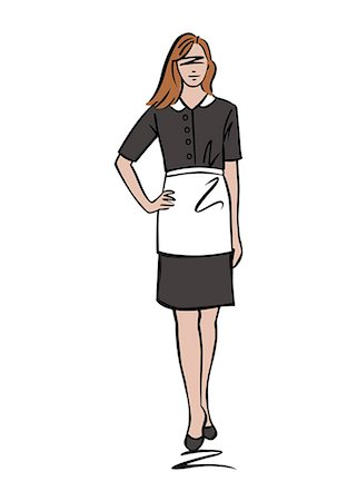 Illustration of female maid Stock Photo - Premium Royalty-Free, Code: 632-08227909