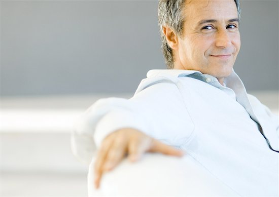Mature man smiling, portrait Stock Photo - Premium Royalty-Free, Image code: 632-01154293