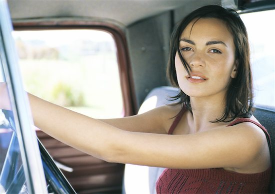 Young female driver Stock Photo - Premium Royalty-Free, Image code: 632-01156425