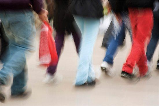 Pedestrians walking on sidewalk, low section Stock Photo - Premium Royalty-Free, Image code: 632-03083503