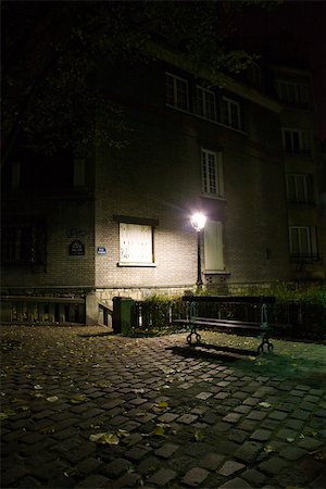 France, Paris, Montmartre, Place Dalida at night Stock Photo - Premium Royalty-Free, Code: 632-03500699