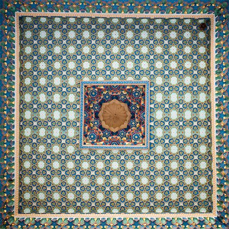 Ornately painted ceiling, Bukhara, Uzbekistan Stock Photo - Premium Royalty-Free, Code: 632-03779343