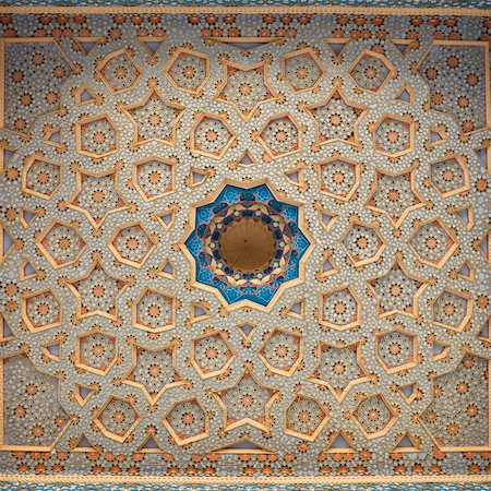 Ornately painted ceiling, Bukhara, Uzbekistan Stock Photo - Premium Royalty-Free, Code: 632-03779505