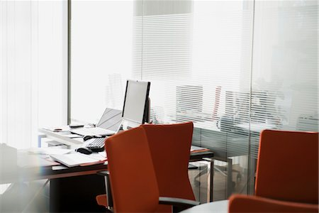 selective focus computer no people - Empty office Stock Photo - Premium Royalty-Free, Code: 632-03847735