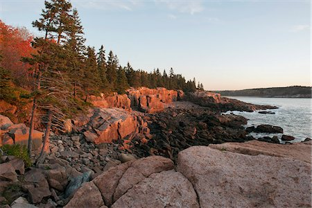 Rocky shore, Acadia National Park, Maine, USA Stock Photo - Premium Royalty-Free, Code: 633-08482051