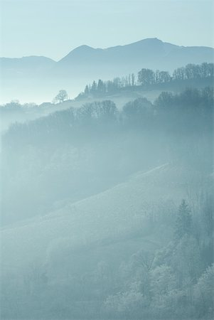 Misty mountain landscape Stock Photo - Premium Royalty-Free, Code: 633-01573384