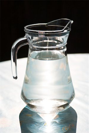 Glass pitcher of water Stock Photo - Premium Royalty-Free, Code: 633-03444803