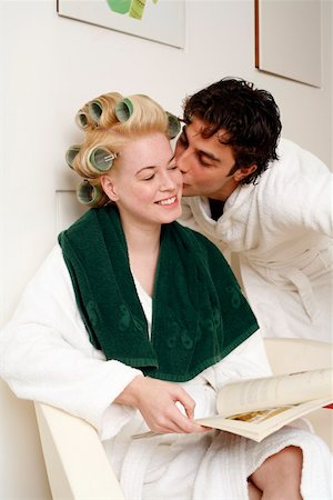 Young couple waiting in a beauty salon Stock Photo - Premium Royalty-Free, Code: 644-01436682