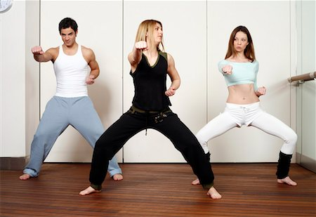 student fighting - Students in an Active Tae Bo class Stock Photo - Premium Royalty-Free, Code: 644-01436946