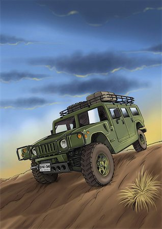 A jeep on a desert safari Stock Photo - Premium Royalty-Free, Code: 645-01538117