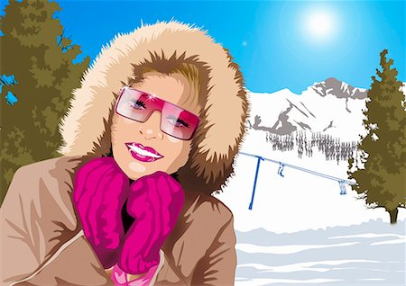 Woman posing with her winter garb Stock Photo - Premium Royalty-Free, Code: 645-01739810