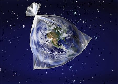 The earth in a plastic bag Stock Photo - Premium Royalty-Free, Code: 645-01826226