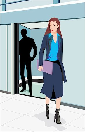 Front view of a businesswoman Stock Photo - Premium Royalty-Free, Code: 645-02153337
