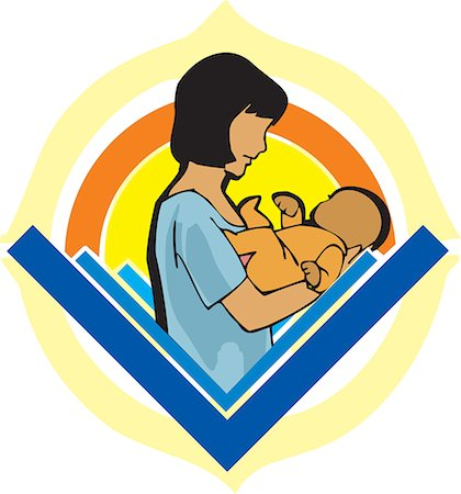 Side view of mother holding baby Stock Photo - Premium Royalty-Free, Code: 645-02153518