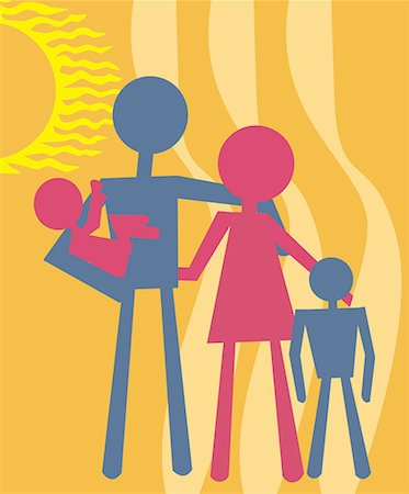family abstract - Family standing together Stock Photo - Premium Royalty-Free, Code: 645-02153538